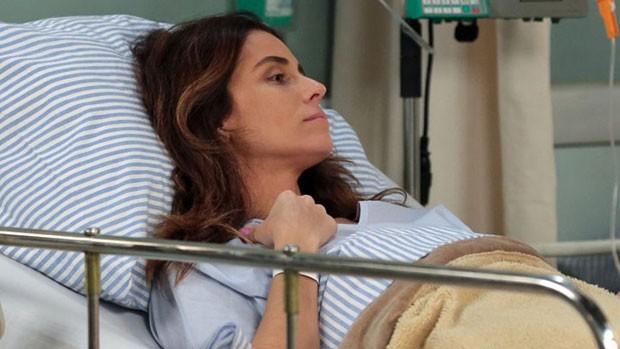 'Sol': Alice recebe alta, mas diz que não deixa hospital (divulgação)