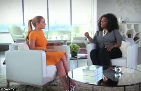 Lindsay dá entrevista para Oprah Winfrey após reabilitação (Foto: Reprodução)