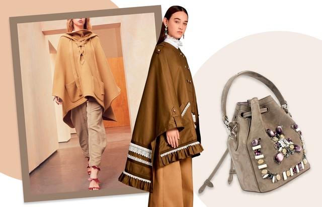 Da esquerda para a direira:  Chloé, Erdem e bolsa Ralph Lauren, R$ 9.900 (Foto: Divulgação)
