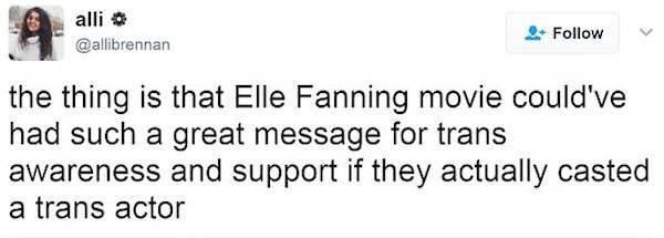 Ua crítica à atriz Elle Fanning (Foto: Twitter)