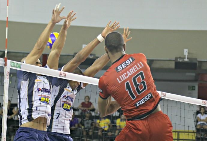 Sesi-SP x Montes Claros - Superliga de Vôlei (Foto:  Lucas Dantas / Sesi-SP Divulgação)