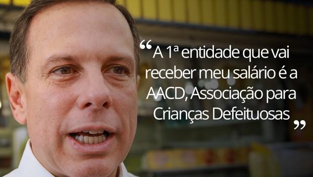 João Doria (PSDB) frase Doria (Foto: Jales Velquer/FotoArena/Estadão Conteúdo)
