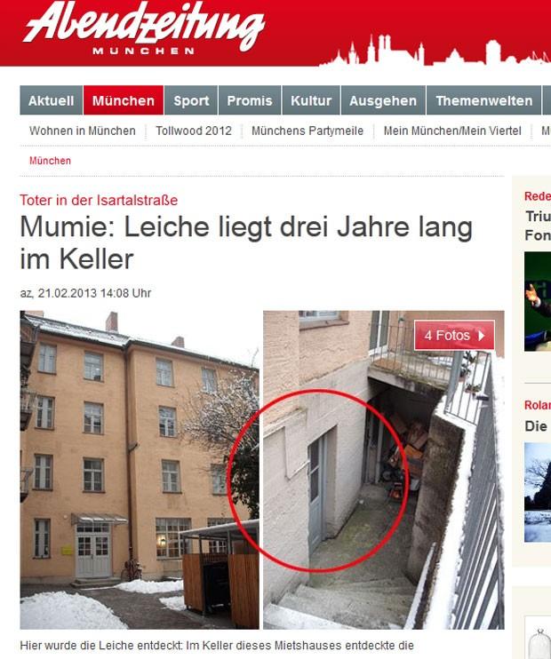 Homem morto há três anos seguia pagando aluguel na Alemanha (Foto: Reprodução)