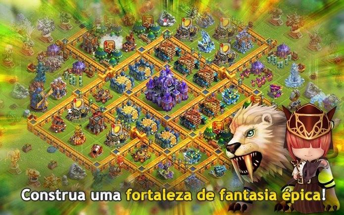 Jogo no estilo Clash of Clans onde suas tropas também ajudam na defesa (Foto: Divulgação)