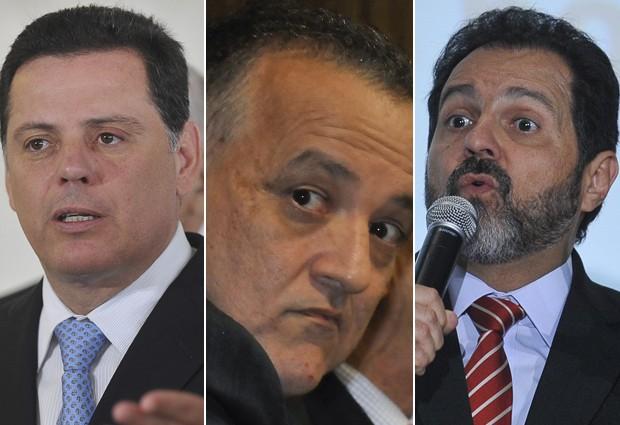 Governador de Goiás, Marconi Perillo, depõe nesta terça (12) na CPI que investiga Carlinhos Cachoeira; na quarta (13), depõe Agnelo Queiroz (DF) (Foto: Antônio Cruz/Agência Brasil)