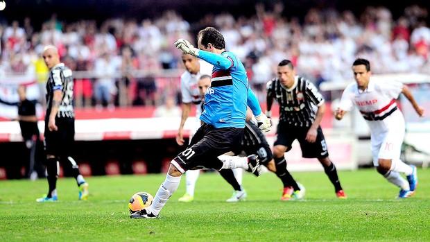 Rogério Ceni pênalti jogo São Paulo e Corinthians (Foto: Marcos Ribolli / Globoesporte.com)