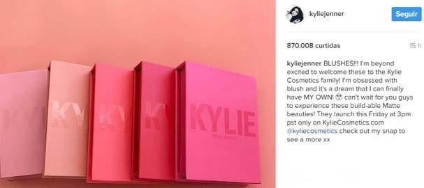 Kylie anuncia no Instagram (Foto: Reprodução/Instagram)