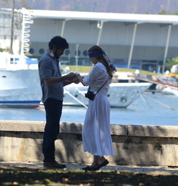 Sophie Charlotte e Renato Góes (Foto: William Oda/AgNews)