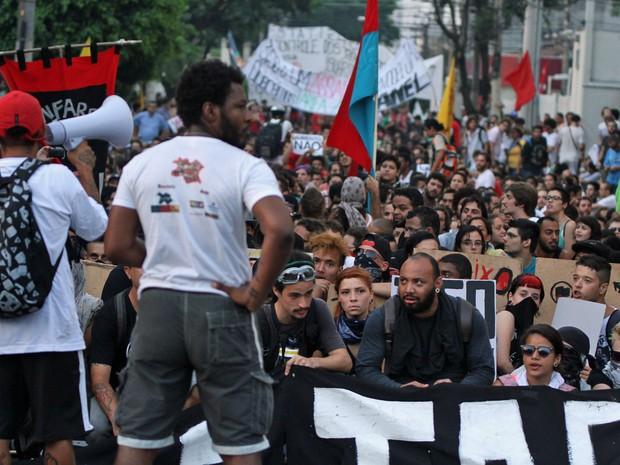 MPL manifestação Zona Leste de SP (Foto: Amauri Nehn/Brazil Photo Press/Estadão Conteúdo)