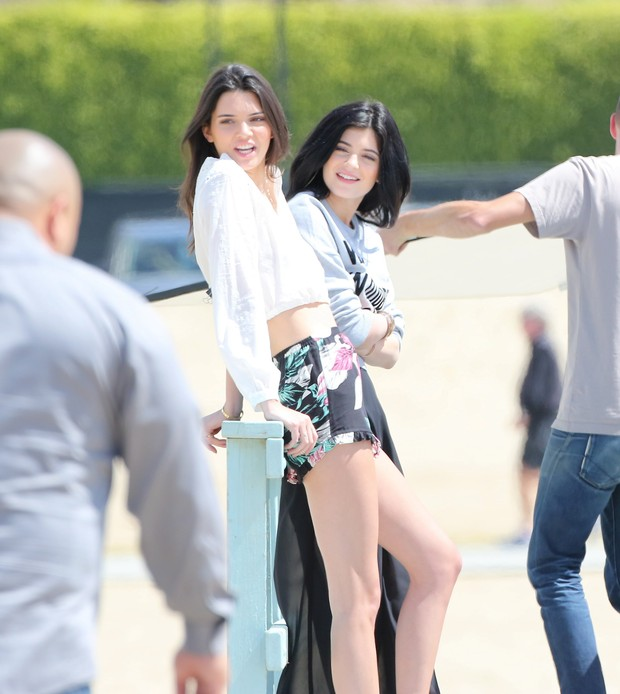 Kendall e Kylie Jenner   (Foto: Grosby Group/Agencia)