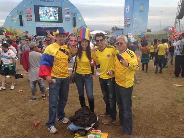 Torcida colombiana na Fan Fest (Foto: Guilherme Pontes/G1)