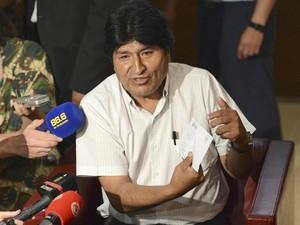 Evo Morales, presidente da Bolívia (Foto: HELMUT FOHRINGER/EFE)