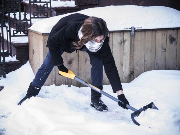 Quanto esforço! Ela mostra que não tem medo do trabalho (Foto: Raphael Dias/Gshow)
