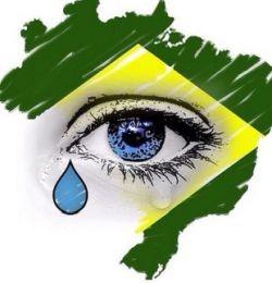 Brasil chora (Foto: Arquivo Google)