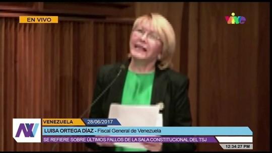 Procuradora-geral da Venezuela dá declaração, após tribunal transferir poderes