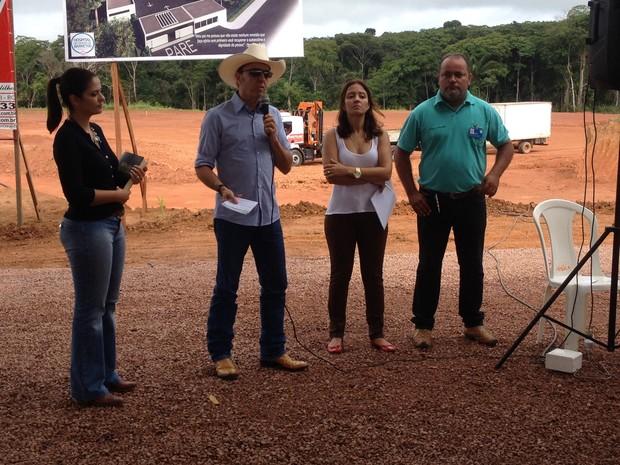 Henrique Prata, diretor do hospital de Câncer de Barretos lançou início das obras (Foto: Karla Cabral/G1)