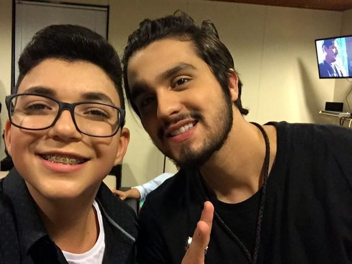 Luan Santana chamou todo mundo para conferir as músicas do novo CD de Wagner Barreto (Foto: Arquivo pessoal )