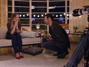 Vídeo da Nextel mostra gravação da resposta de Laura ao pedido de casamento (Foto: Felipe Reis/Divulgação)