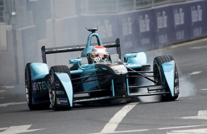 Fórmula E e-Prix de Pequim Lucas di Grassi e Sebastian Buemi (Foto: Kim Kyung-Hoon / Reuters)