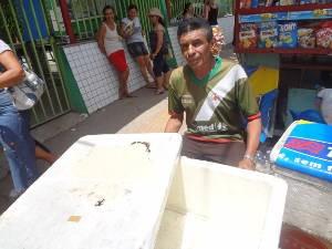 Marcos Farias comemorou o movimento do Enem (Foto: Luana Laboissiere/ G1)