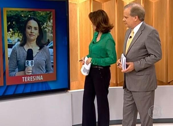 Neyara Pinheiro em vivo para o Bom Dia Brasil (Foto: reprodução/TV Clube)