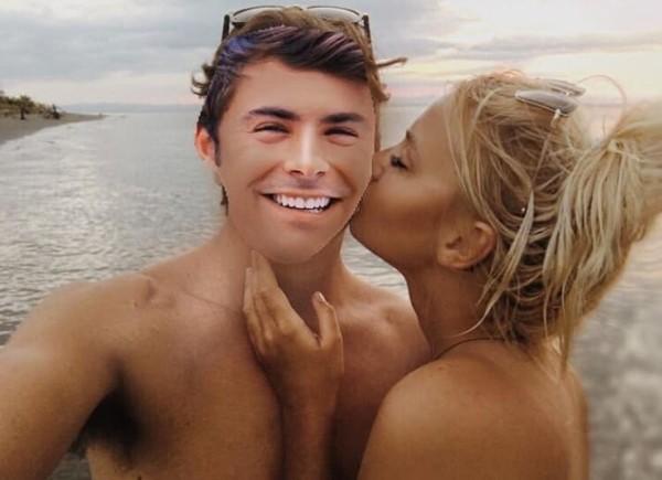 Baylee Woodward colou Zac Efron nas fotos ao lado do ex-namorado (Foto: Reprodução / Instagram)