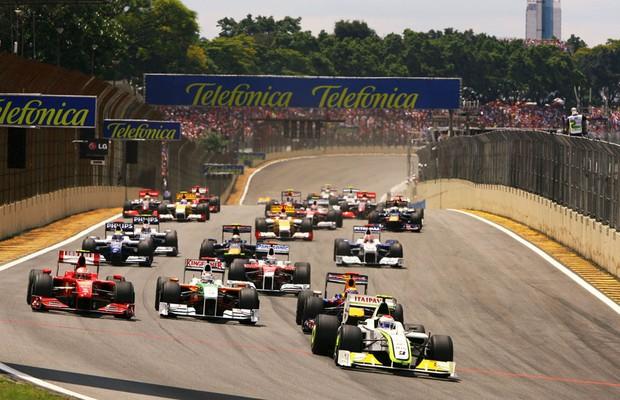 Largada do GP do Brasil de 2009 (Foto: Divulgação)