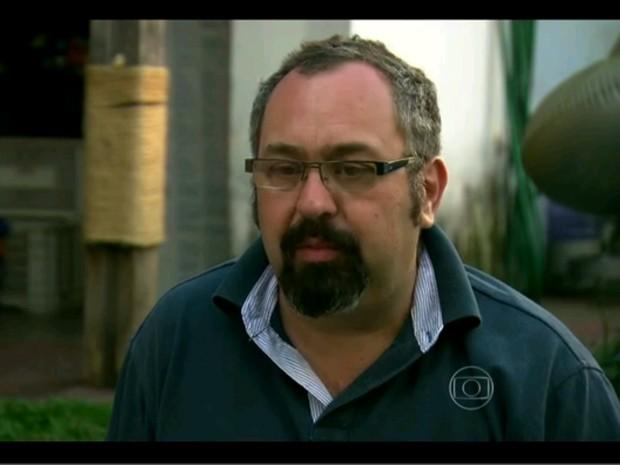 Luiz Scalea foi um dos ativistas que invadiu o Instituto Royal (Foto: Encontro com Fátima Bernardes/TV Globo)