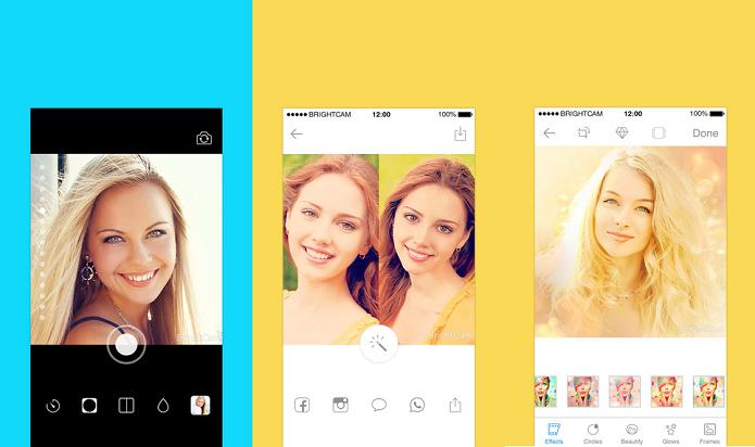 Faça selfies sem tocar no gadget com o Brightcam (Foto: Divulgação/AppStore)