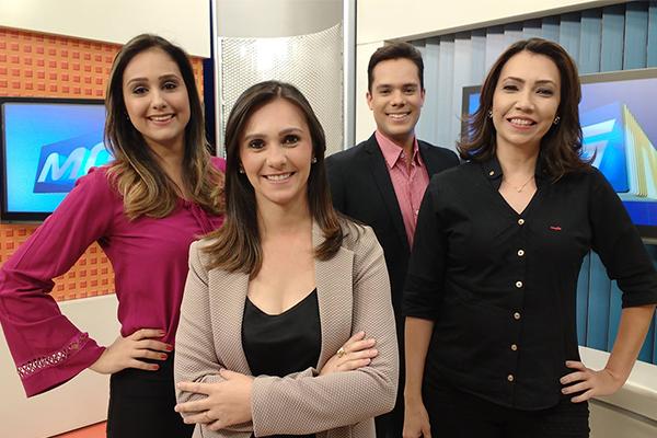 Apresentadores da TV Integração em Uberaba  (Foto: Divulgação | TV Integração )