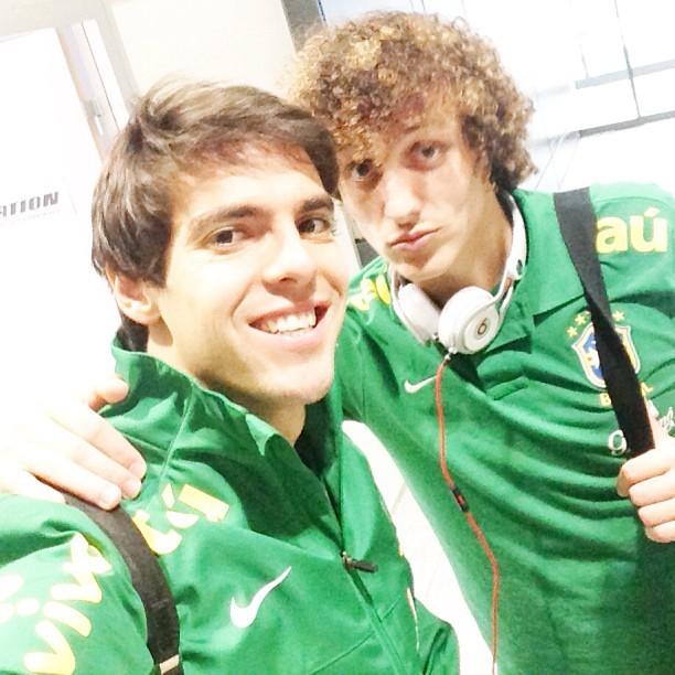 Kaká posa david Luiz (Foto: Reprodução Instagram)