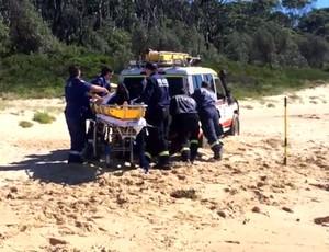 FRAME - John Wolfson atacado por golfinhos (Foto: Reprodução / Youtube)