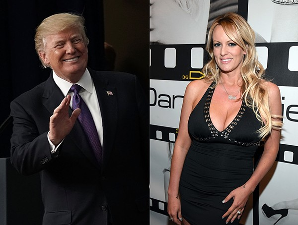 Donald Trump e Stormy Daniels (Foto: Getty Images)