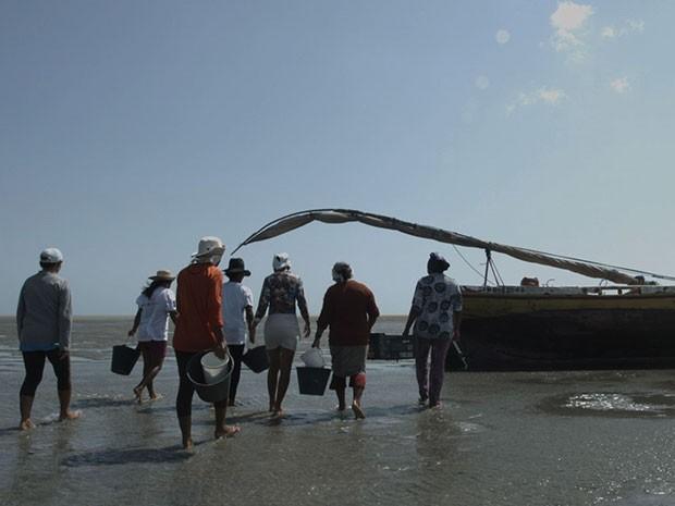 Marisqueiras foram capacitadas em Grossos, no litoral Norte do RN (Foto: Fundação Banco do Brasil/Divulgação)