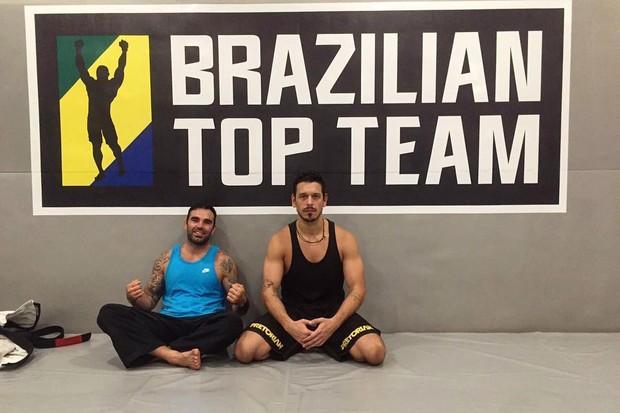 Chico Salgado em um dos treinos com João Vicente (Foto: Reprodução/Instagram)