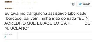 Internautas comentam cena de Mateus Solano no riacho (Foto: Reprodução/Twitter)
