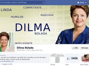"""Página """"Dilma Bolada"""", que parodia a presidente no Facebook. (Foto: Reprodução/Twitter.com)"""