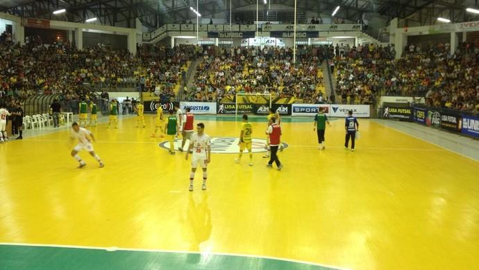 Sorocaba e Assoeva empataram por 3 a 3 nesta segunda-feira, pela Liga Futsal (Foto: Divulgação/Sorocaba Futsal)