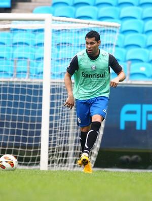 André Santos treina pelo Grêmio (Foto: Lucas Uebel/Divulgação, Grêmio)