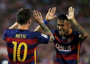 Messi Neymar gol Atletico de Madrid x Barcelona (Foto: Reuters)