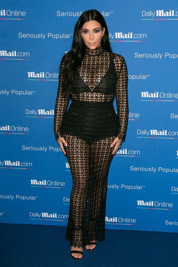 Kim Kardashian em evento em Cannes, na França (Foto: Marc Piasecki/ Getty Images)