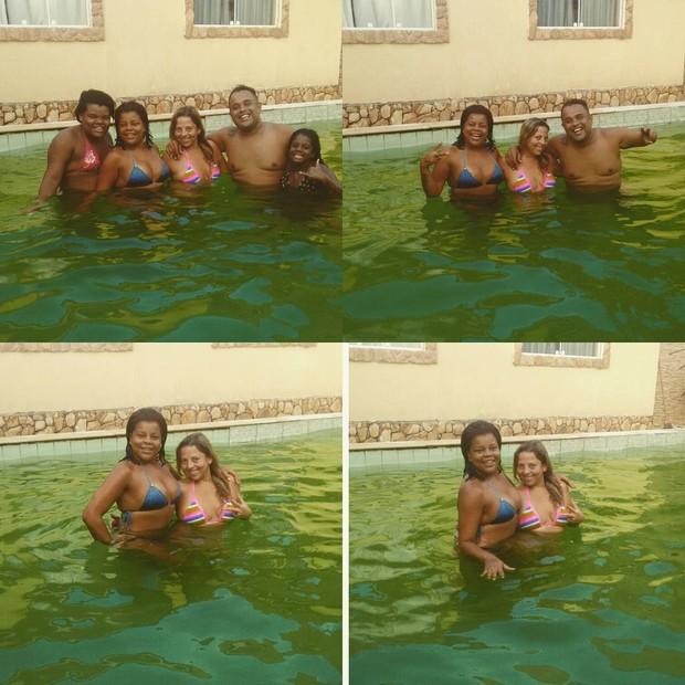 Tati Quebra Barraco curte piscina com família (Foto: Instagram / Reprodução)