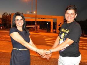 karina e flavia (Foto: Fabiano Arruda/G1 MS)