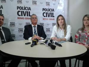 Delegados falam sobre o caso (Foto: Alex Rocha/G1)