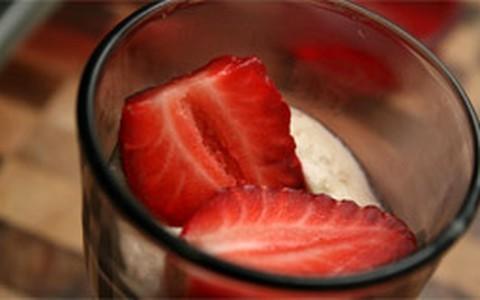 Receita francesa: parfait de morango