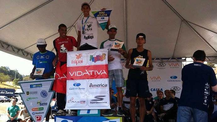 Eberth Silva Campeão Corrida de Rua Camilo dos Santos 2014 (Foto: Eberth Silva Silvério / Arquivo Pessoal)
