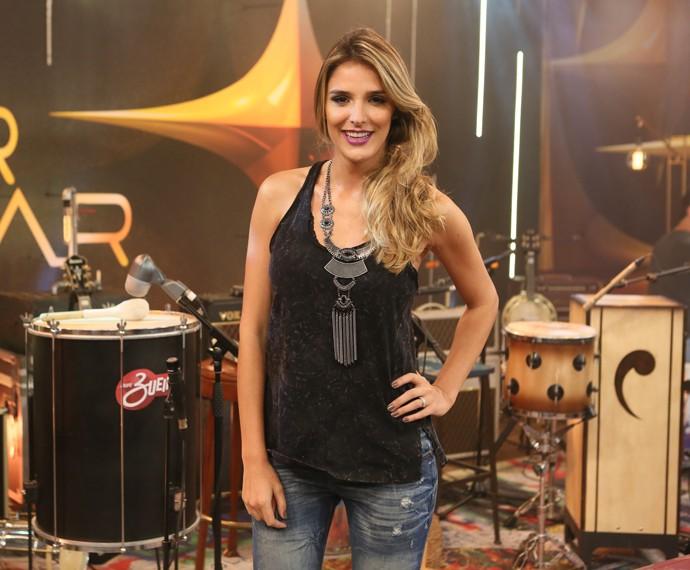 Rafa Brites fala sobre look para ir em um show de rock (Foto: Isabella Pinheiro/Gshow)