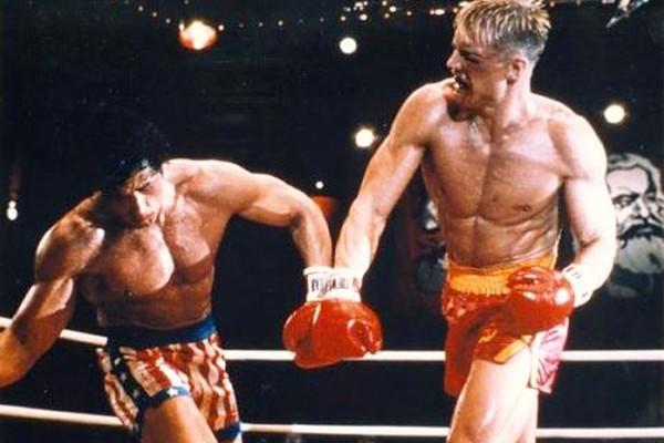 Sylvester Stallone e Dolph Lundgren em Rocky IV (Foto: Divulgação)