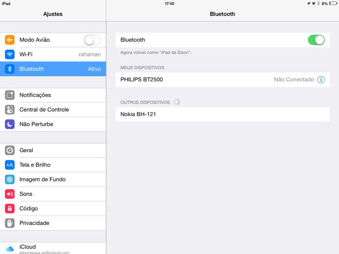 iOS permite  a sincronização rápida com dispositivos da Apple (Foto: Reprodução/Elson de  Souza)
