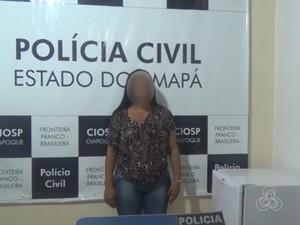 Iaci já havia sido detida em março de 2014 por tráfico (Foto: Reprodução/TV Amapá)